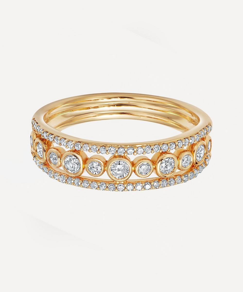 Astley Clarke - Gold Triple Icon Nova Diamond Ring