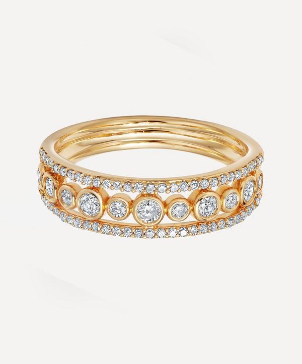 Astley Clarke - Gold Triple Icon Nova Diamond Ring