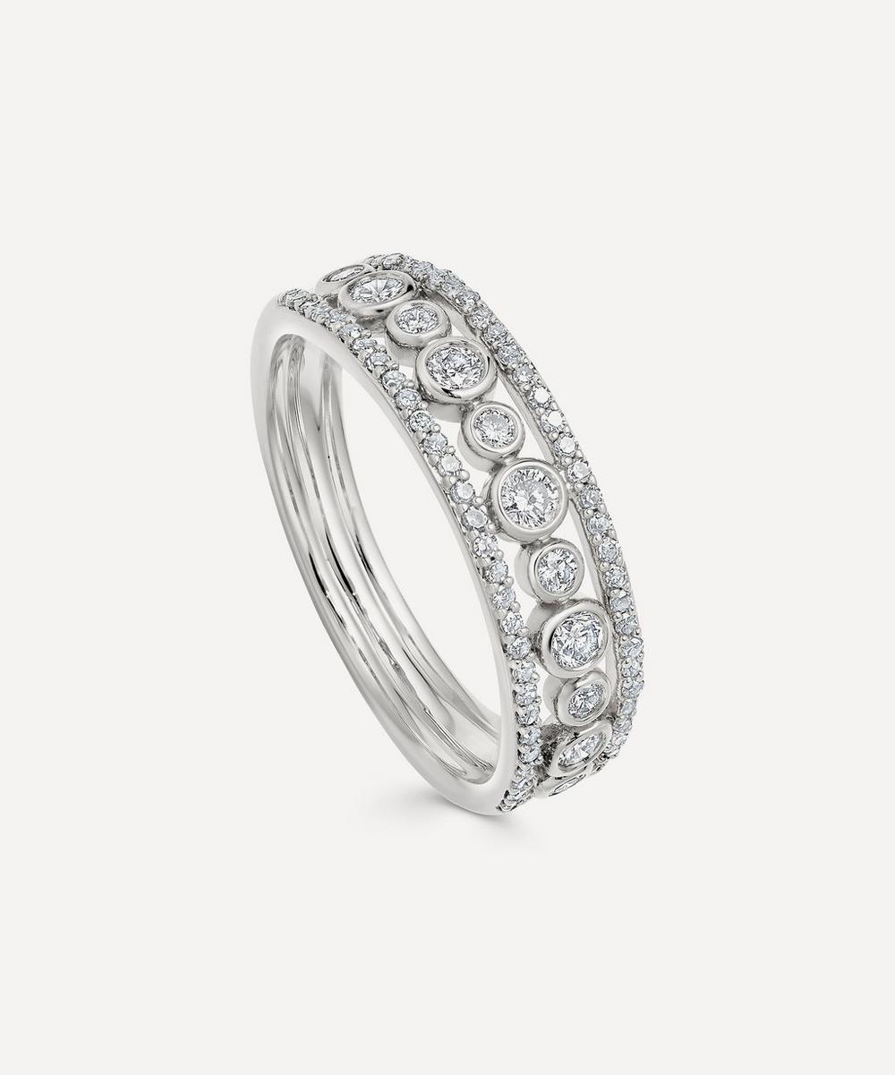 Astley Clarke - White Gold Triple Icon Nova Diamond Ring