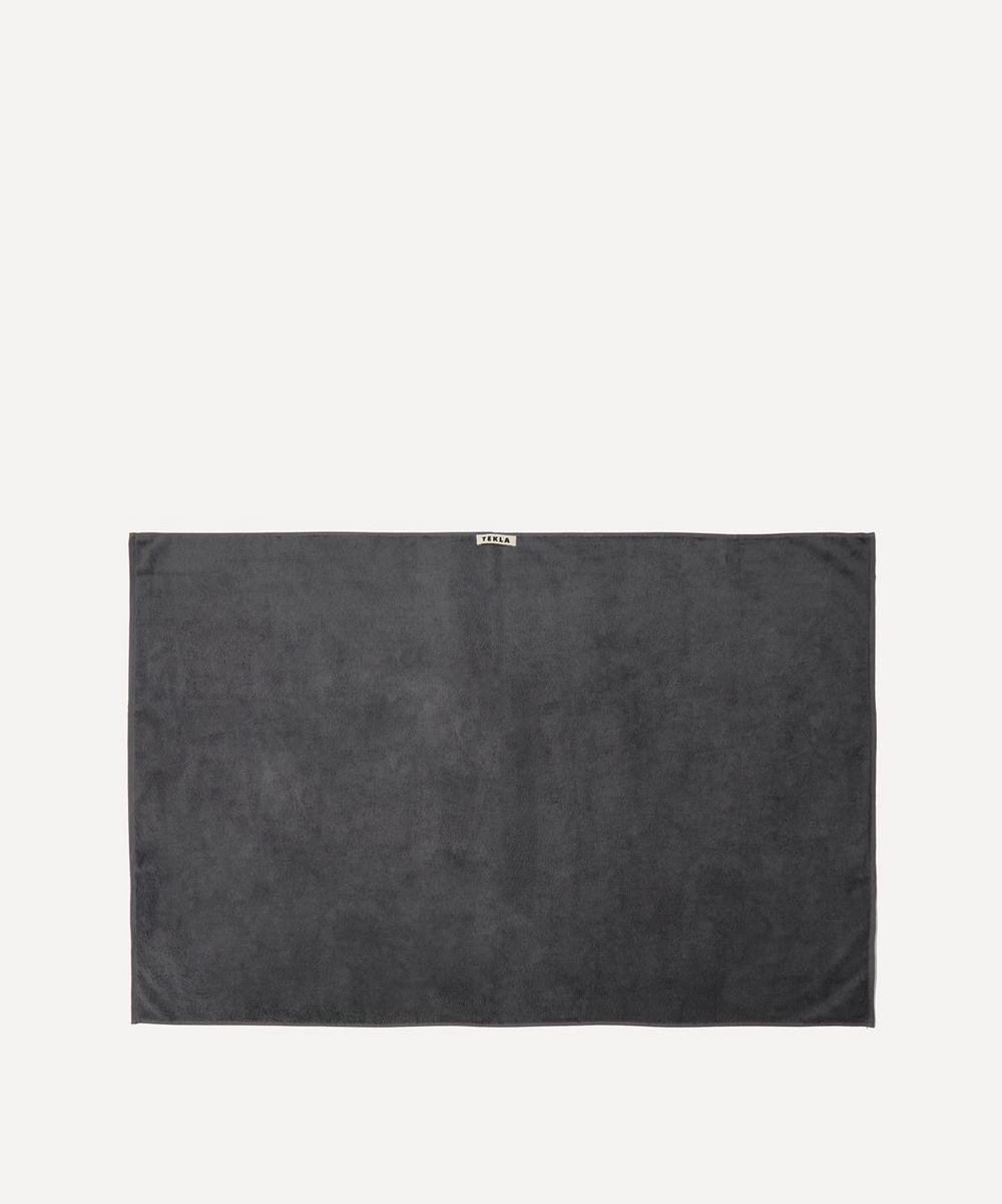 Tekla - Organic Cotton Bath Sheet in Charcoal Grey