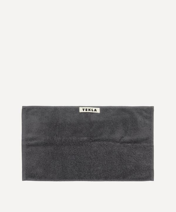 Tekla - Organic Cotton Washcloth in Charcoal Grey