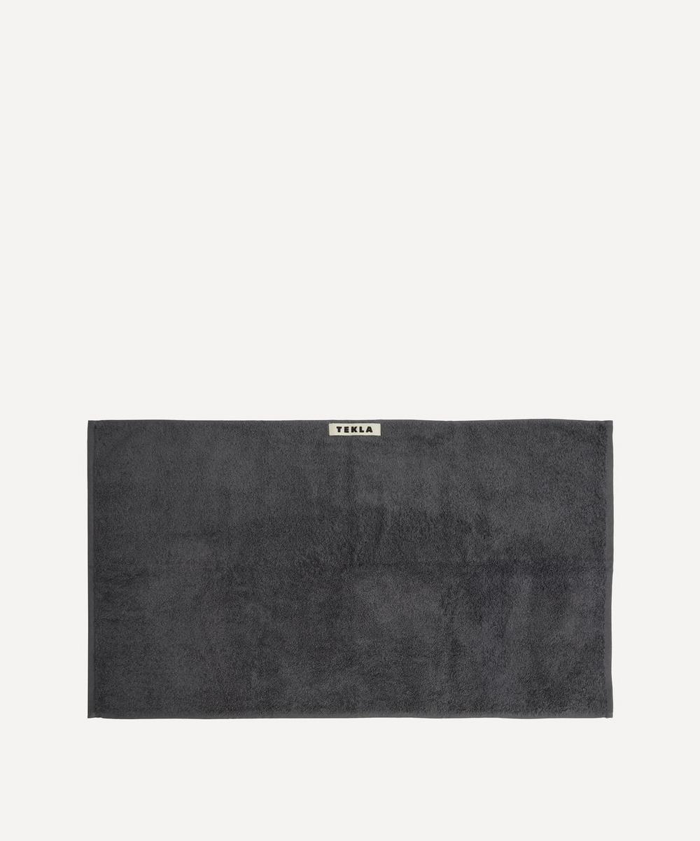 Tekla - Organic Cotton Hand Towel in Charcoal Grey