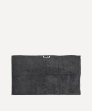 Organic Cotton Hand Towel in Charcoal Grey