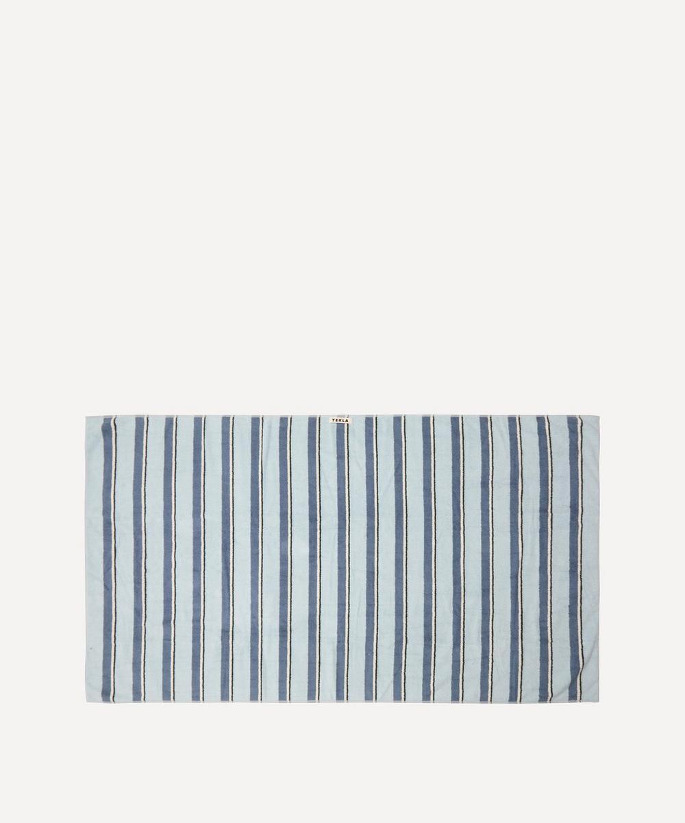 Tekla - Organic Cotton Bath Sheet in Seventies Blue
