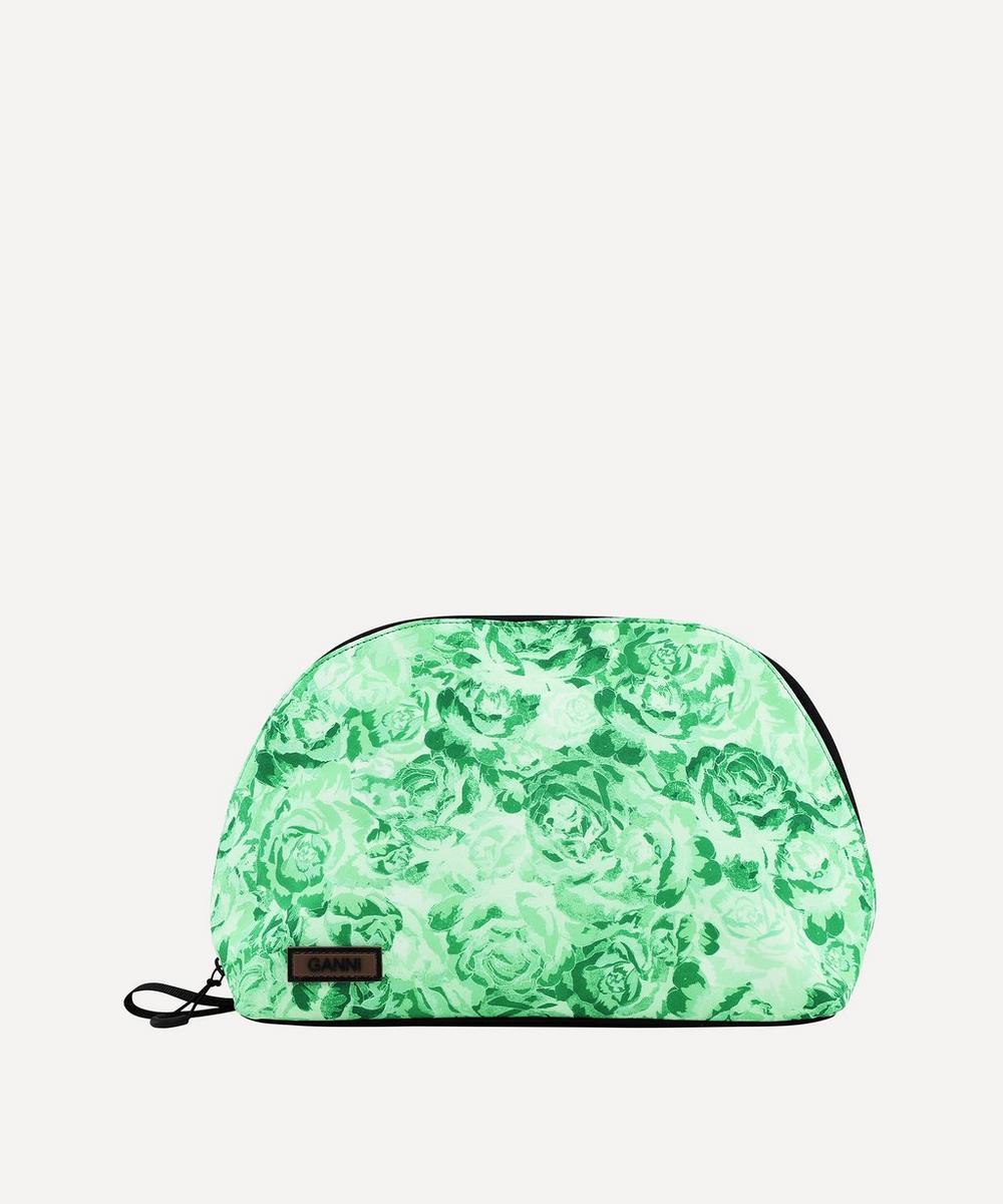 Ganni - Multi-Check Tech Fabric Toiletry Bag