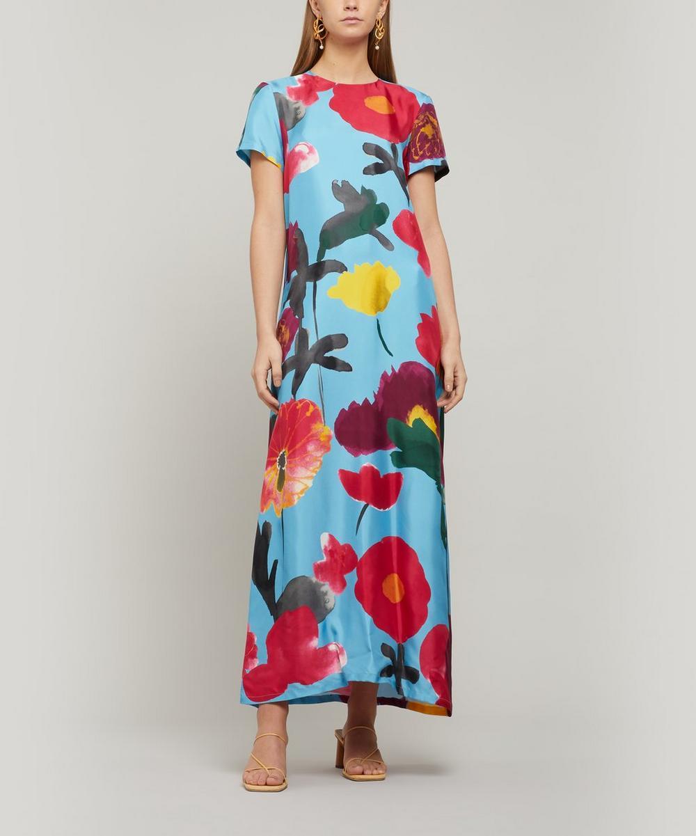 La DoubleJ - Swing Silk Maxi-Dress