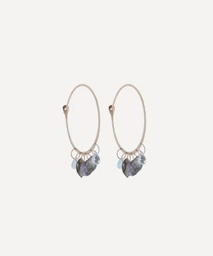 Gold Extra Large Multi-Stone Hoop Earrings