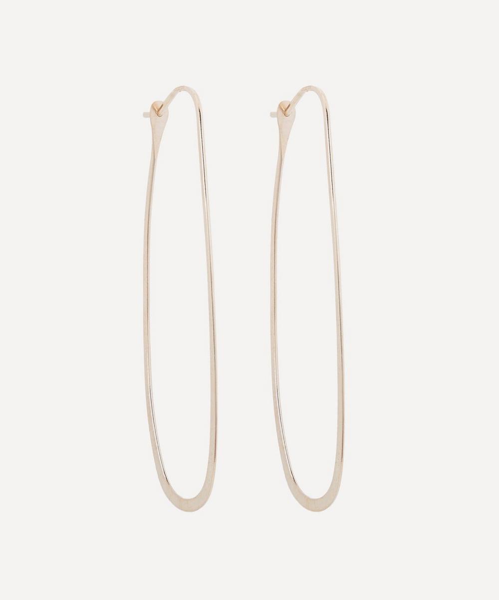 Melissa Joy Manning - Gold Elliptical Hoop Earrings
