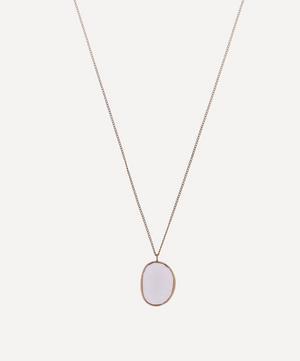 Gold Rose Quartz Pendant Necklace