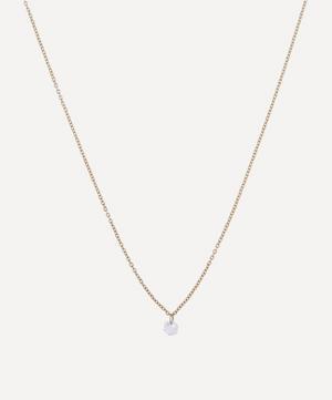 Gold Hexagon Diamond Drop Necklace