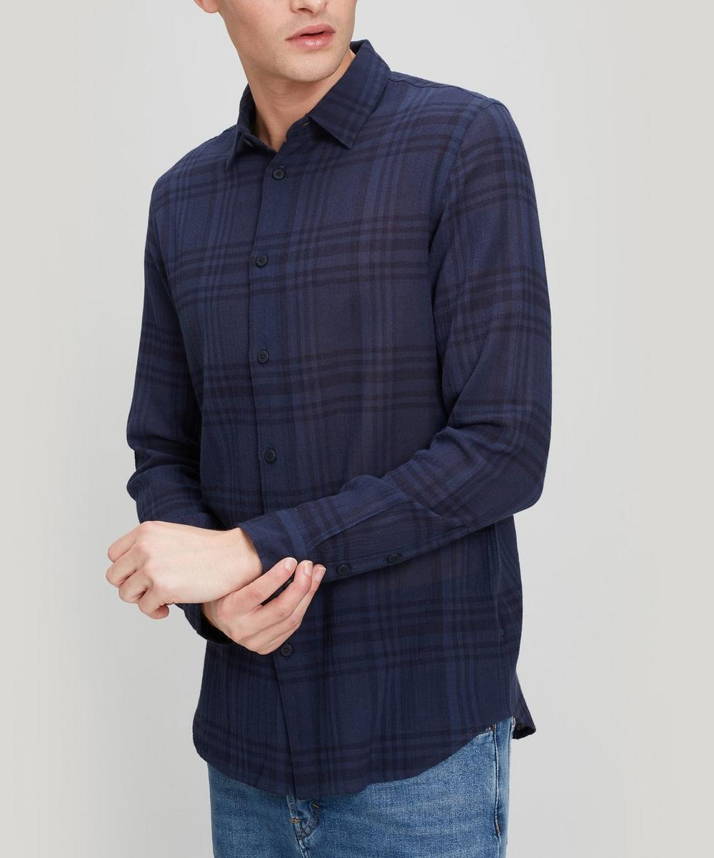 Folk - Orb Check Crepe Cotton Shirt