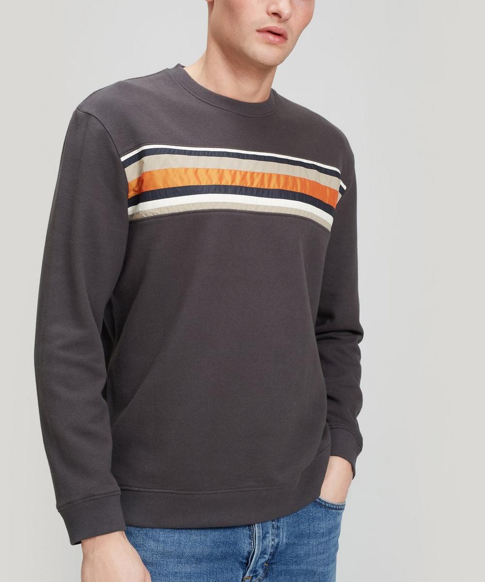 Folk - Warp Stripe Front Cotton Sweater