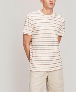 Textured Stripe Cotton T-Shirt