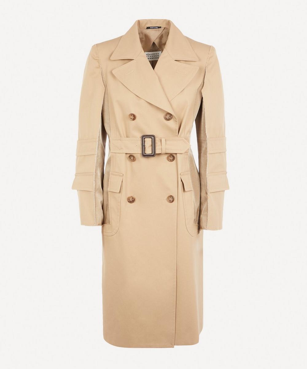Maison Margiela - Raw Seam Camel Trench Coat