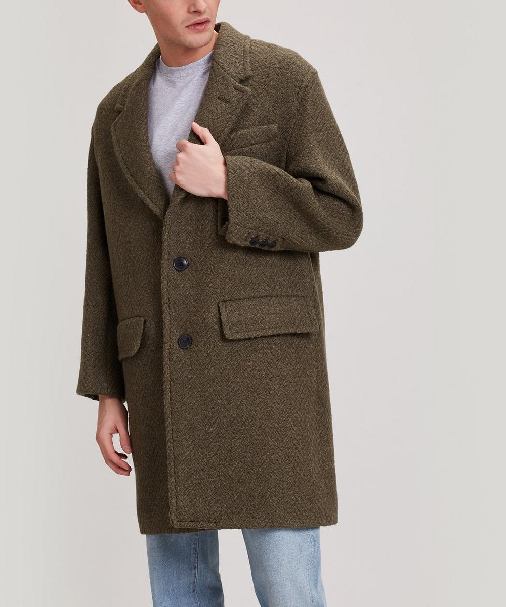 Ami - Chevron Virgin Wool Overcoat