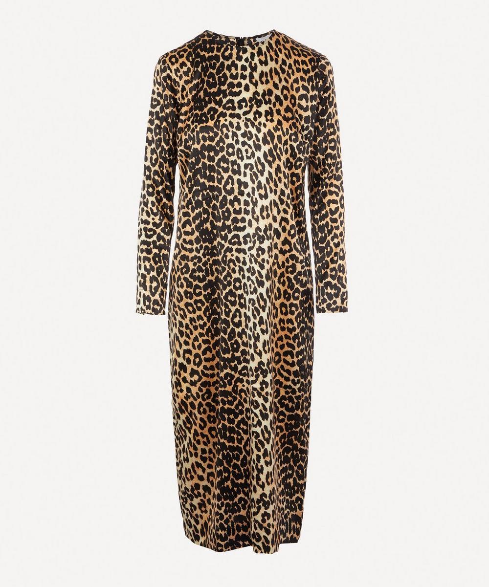 Ganni - Leopard-print Silk Midi-dress
