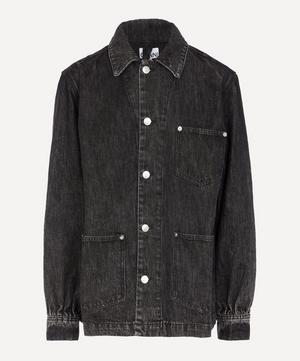 Washed Denim Shirt Jacket