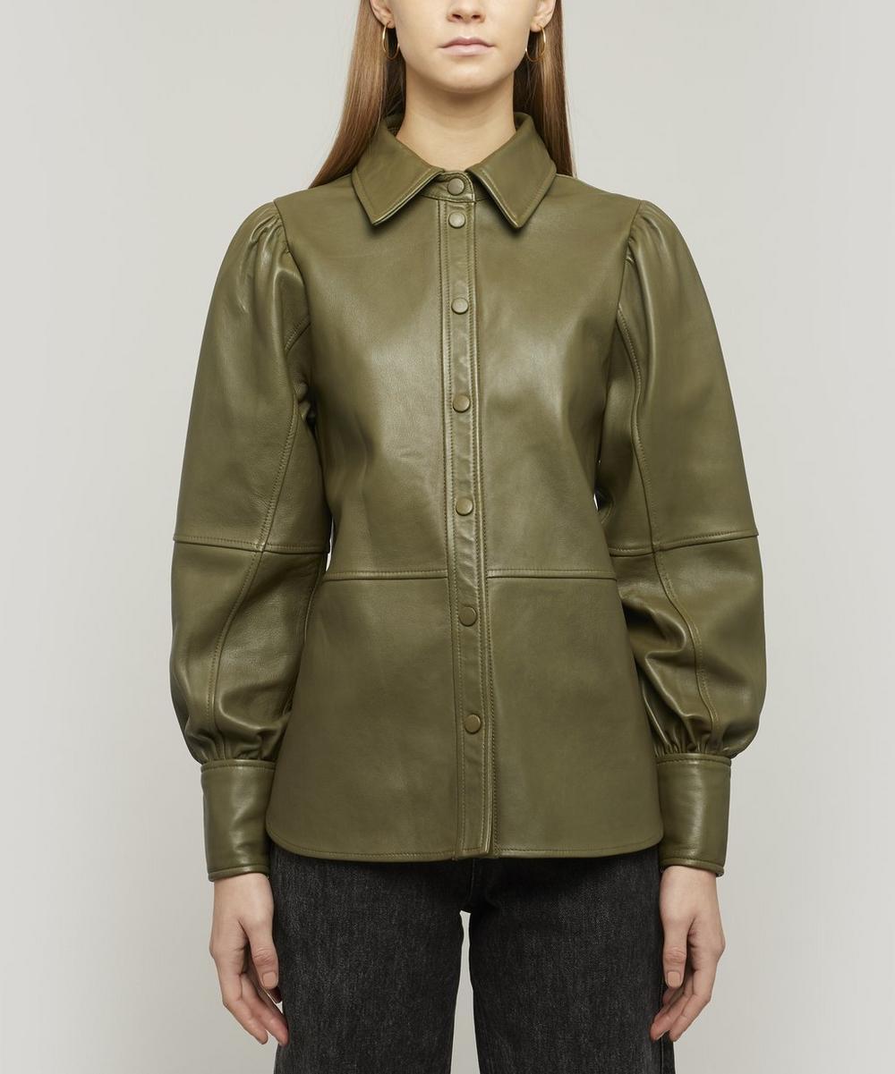 Ganni - Lamb Leather Shirt