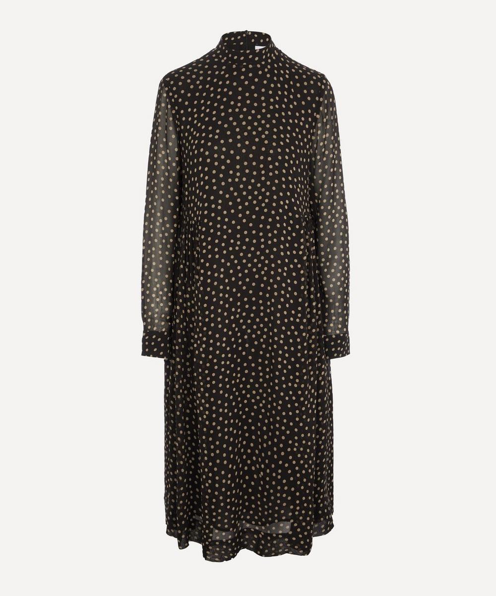 Ganni - Printed Georgette Midi-Dress
