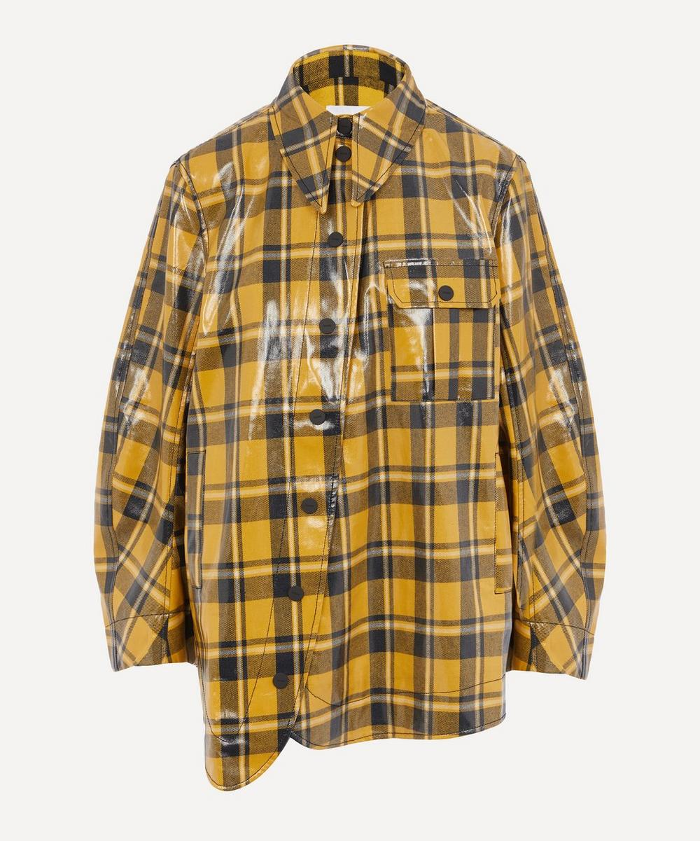 Ganni - Coated Check Twill Shirt