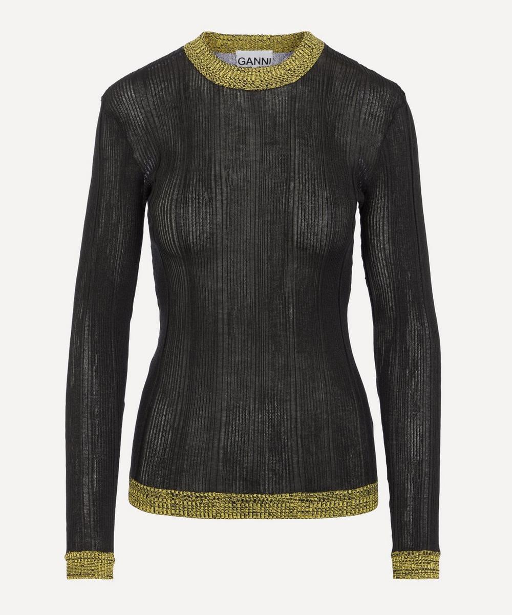 Ganni - Thin Cotton Rib Pullover