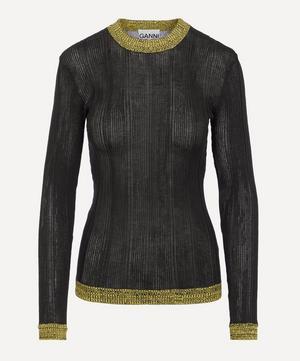 Thin Cotton Rib Pullover