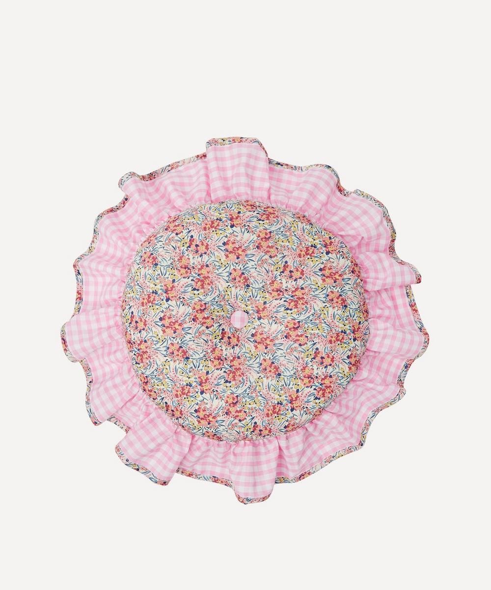 Edit 58 - Swirling Petals Liberty Print Circular Cushion