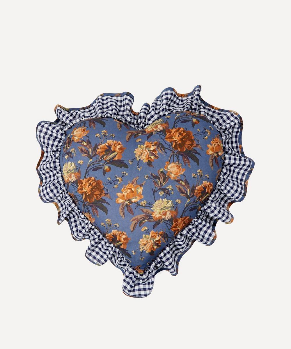 Edit 58 - Decadent Blooms Liberty Print Heart Cushion