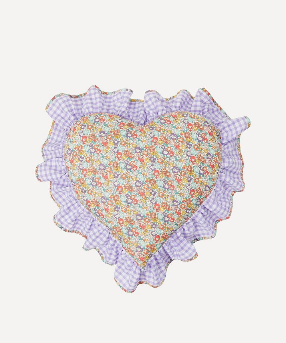 Edit 58 - Michelle Liberty Print Heart Cushion
