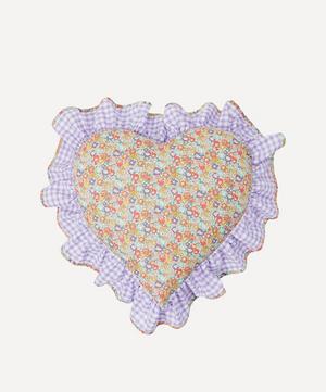 Michelle Liberty Print Heart Cushion