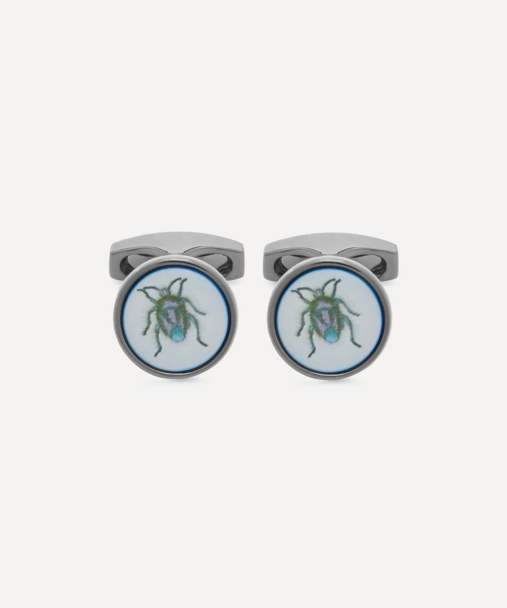 Simon Carter - Bug Mother of Pearl Cufflinks