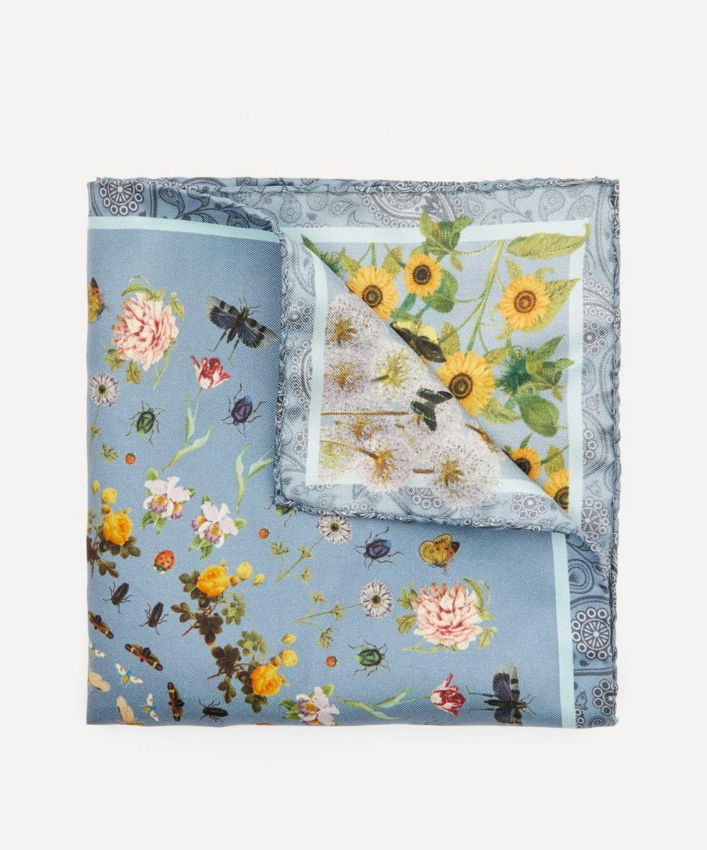 Simon Carter - Botanical Silk Pocket Square