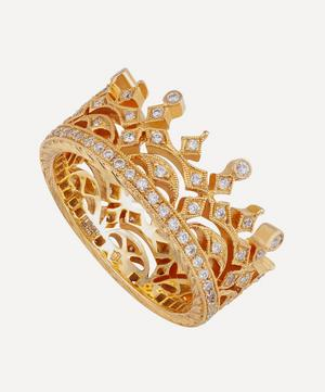 Gold Diamond Crown Ring