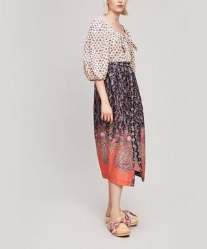 Renee Tana Lawn™ Cotton Button-Up Midi Skirt