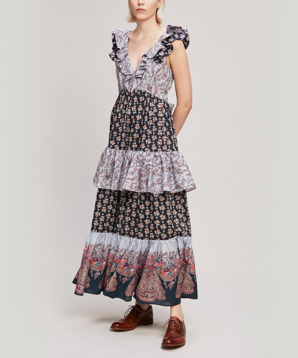 Liberty - Mixed Print Tana Lawn™ Cotton Ruffle Dress