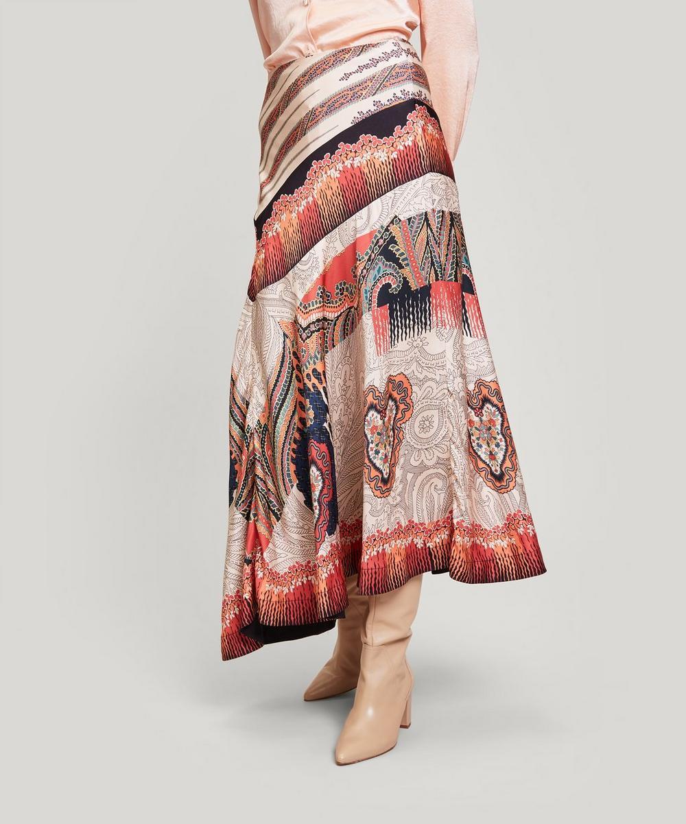 Liberty - Ramona Satin Asymmetric Skirt