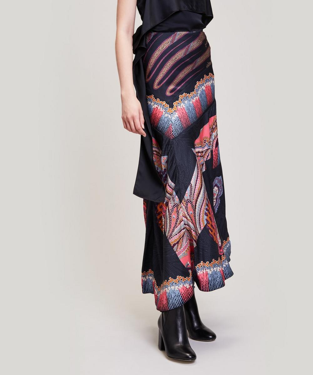 Liberty - Ramona Satin Asymmetric Skirt