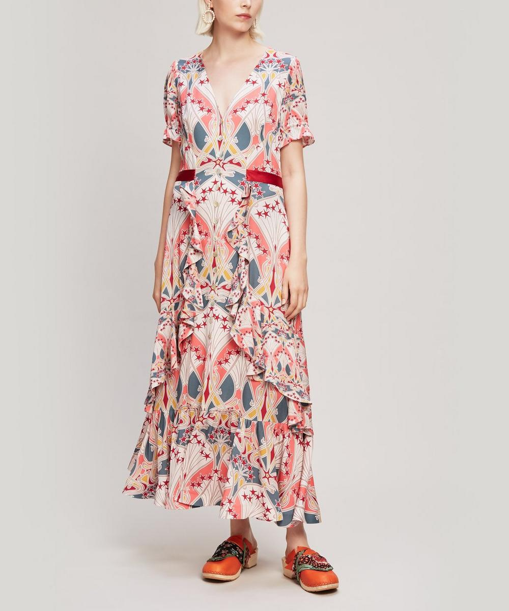 Liberty - Étoile de Mer Crepe V-Neck Tea Dress