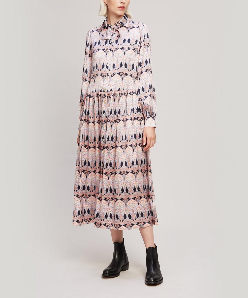 Liberty - Étoile de Mer Silk Satin Shirt Dress
