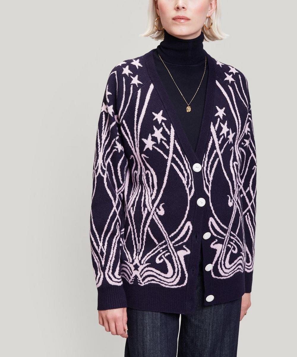 Liberty - Ianthe Knit Merino Wool Cardigan
