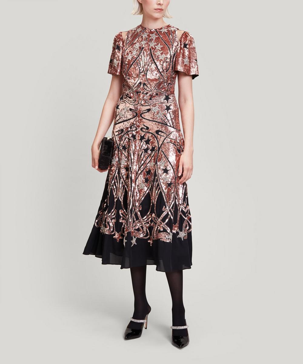 Liberty - Ianthe Star Sequinned Midi Dress