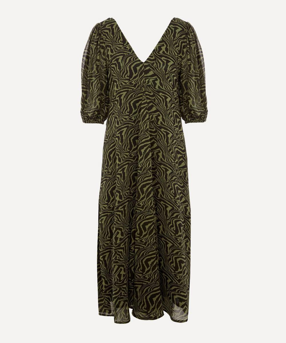 Ganni - Printed Georgette Dress