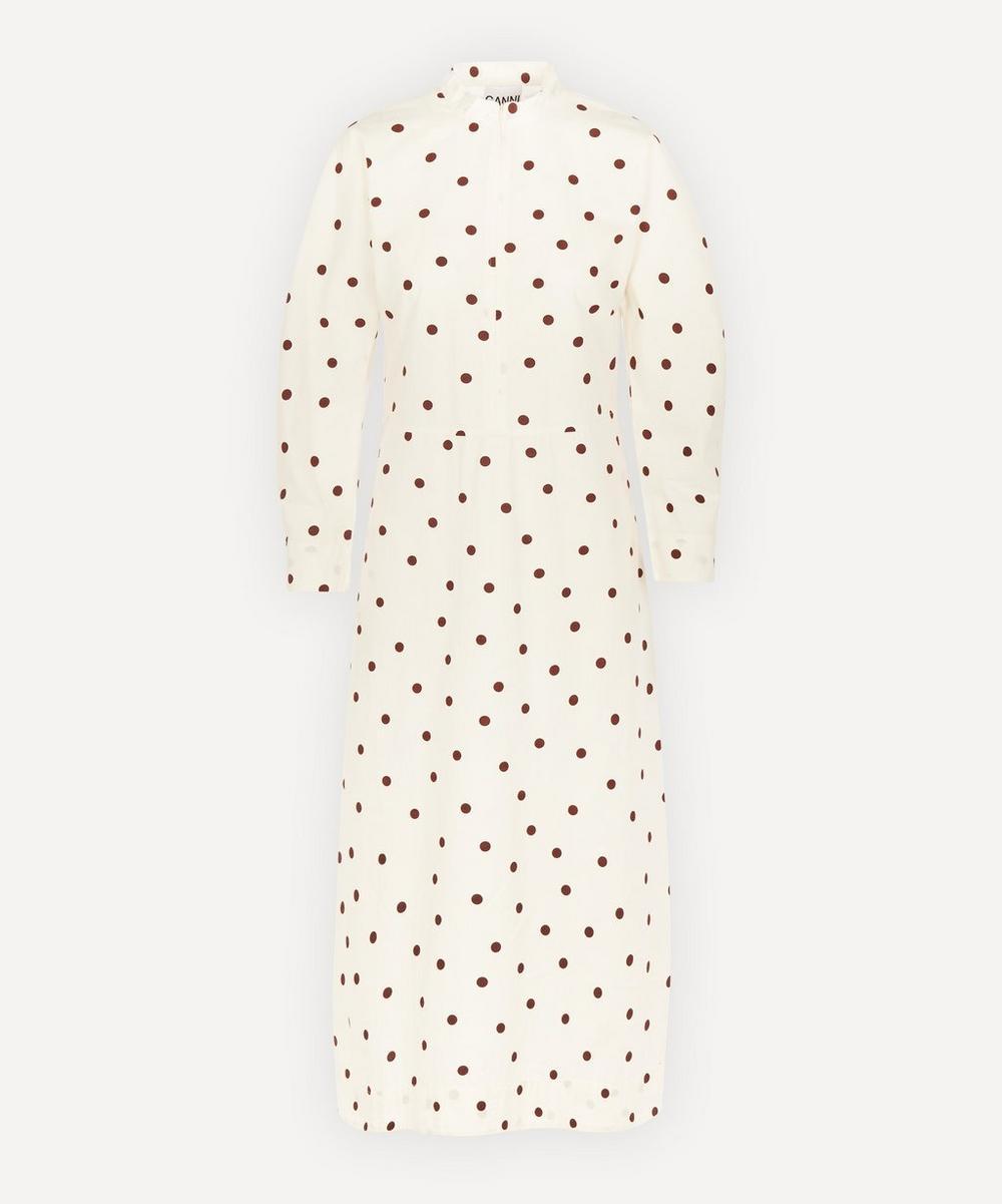 Ganni - Poplin Polka-Dot Dress