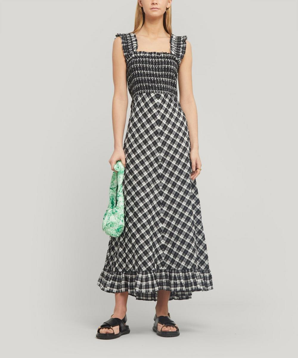 Seersucker Check Maxi Dress Liberty