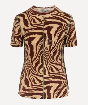 Foil Jersey Exposed Seam T-Shirt