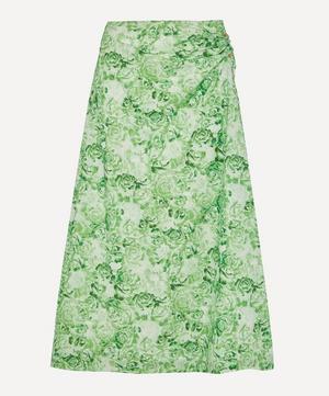 Printed Cotton Poplin Maxi-Skirt