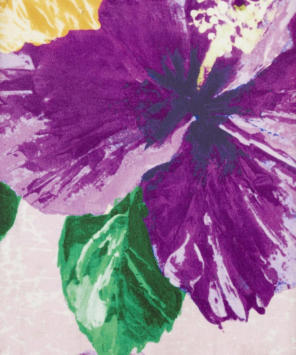 Ungaro - Tropical Flowers Silk Crepe Satin