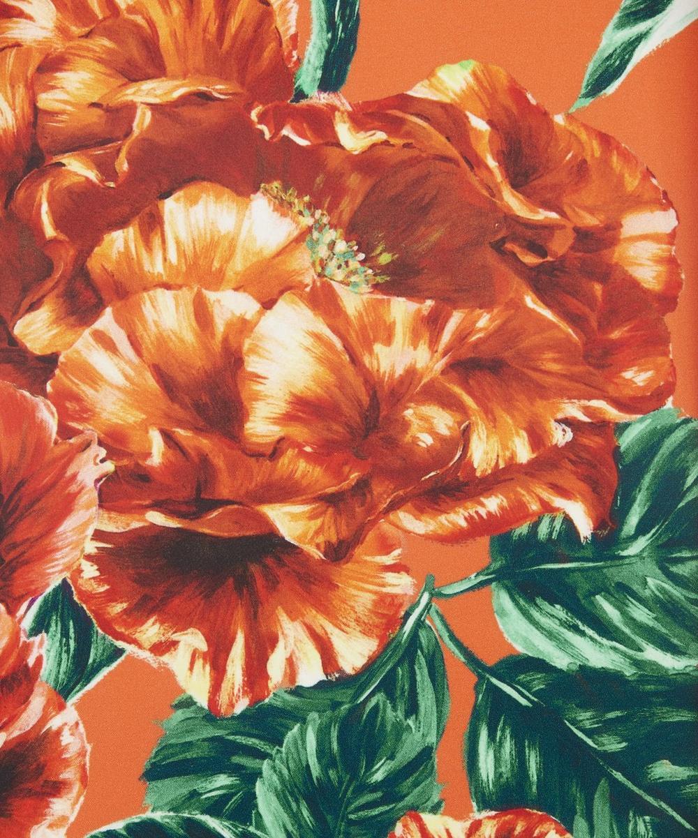 Ungaro - Large Florals Silk Crepe Satin