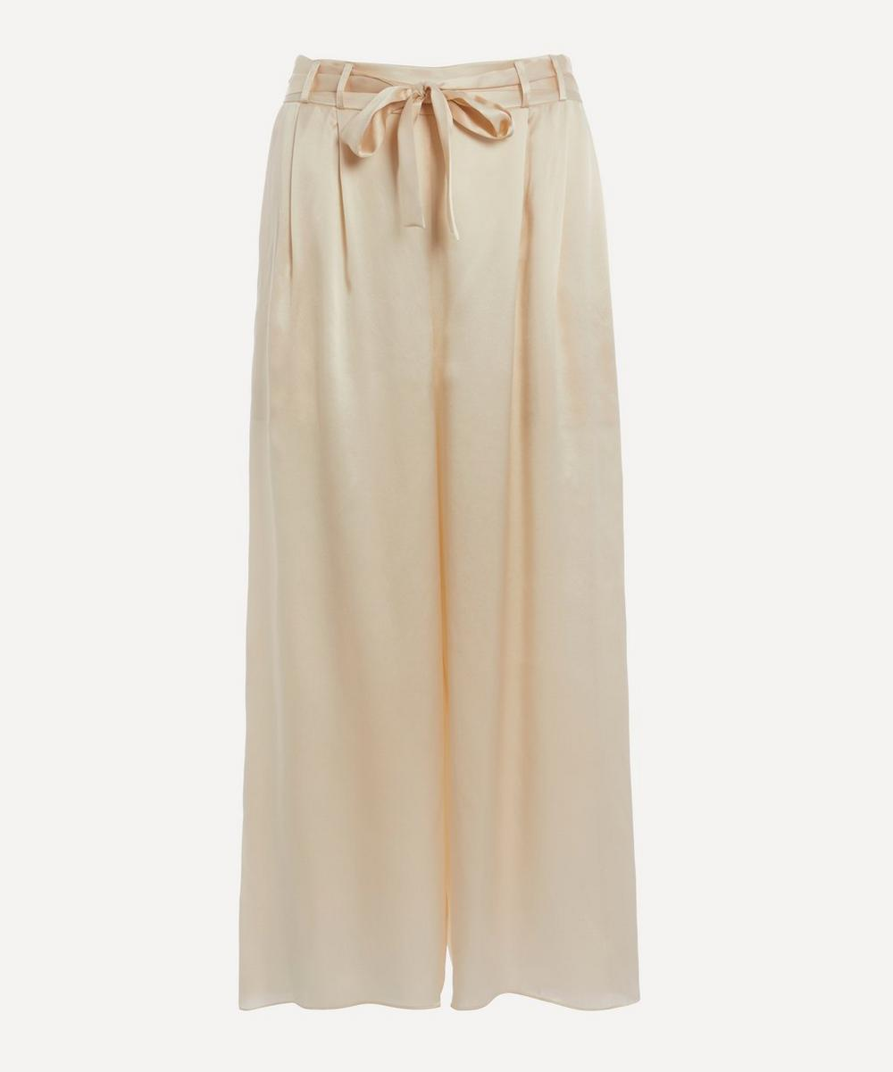 Le Kasha - Cropped Silk Trousers