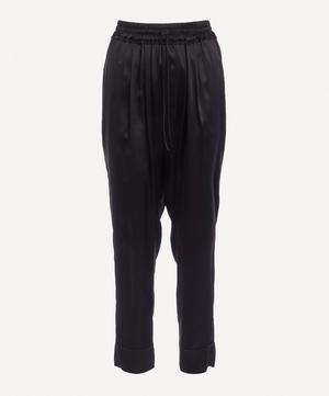 Tapered Silk Trousers